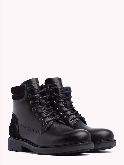 TOMMY HILFIGER Lace-Up Ankle Boots - BLACK - TOMMY HILFIGER Shoes - main image