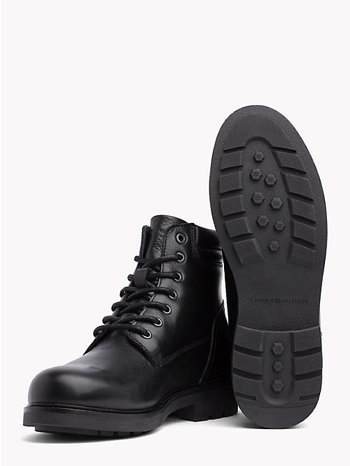 TOMMY HILFIGER Waterproof Lace-Up Ankle Boots - BLACK - TOMMY HILFIGER Boots - detail image 1