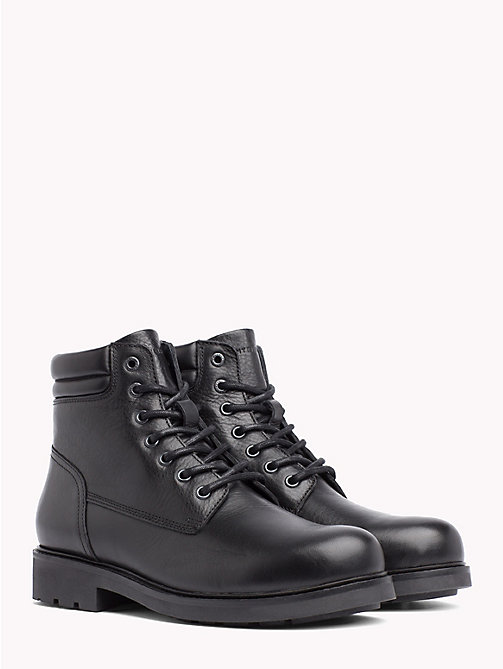 TOMMY HILFIGER Waterproof Lace-Up Ankle Boots - BLACK - TOMMY HILFIGER Shoes - main image