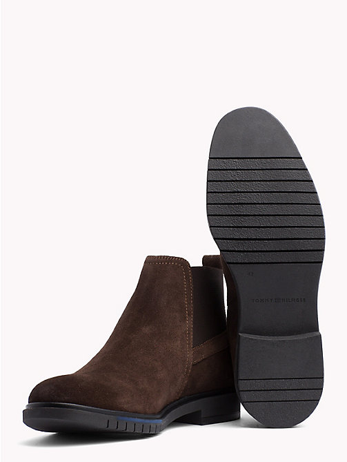 TOMMY HILFIGER Flexible Sole Suede Chelsea Boots - COFFEE BEAN - TOMMY HILFIGER Shoes - detail image 1