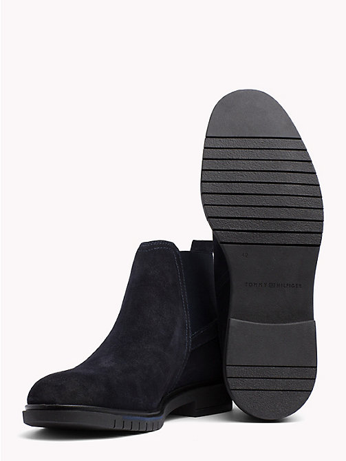 TOMMY HILFIGER Flexible Sole Suede Chelsea Boots - MIDNIGHT - TOMMY HILFIGER Chelsea Boots - detail image 1