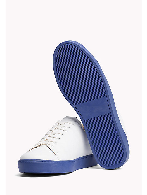 TOMMY HILFIGER Contrast Sole Leather Sneaker - WHITE - TOMMY HILFIGER HILFIGER COLLECTION - detail image 1