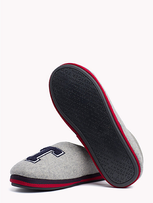 TOMMY HILFIGER Towelling Initial Slippers - LIGHT GREY -  Slippers - detail image 1
