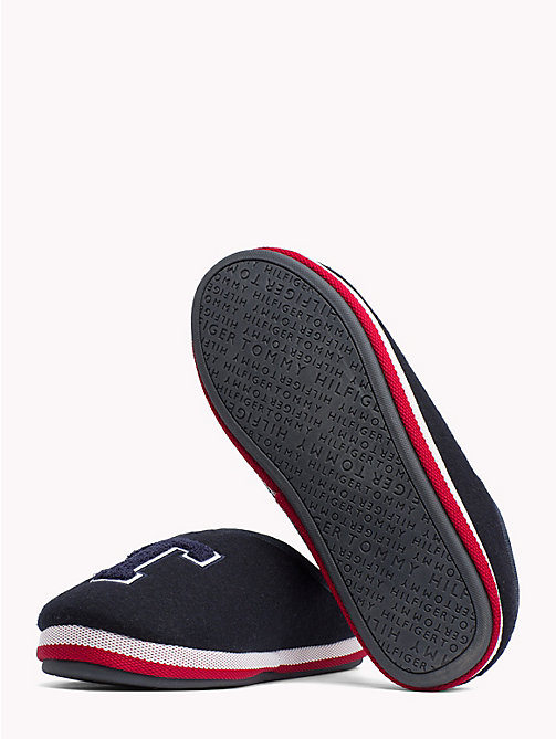 TOMMY HILFIGER Towelling Initial Slippers - MIDNIGHT - TOMMY HILFIGER Shoes - detail image 1