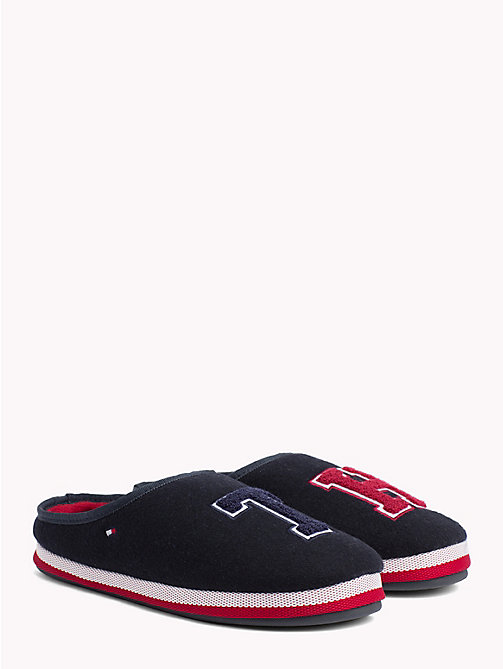 TOMMY HILFIGER Towelling Initial Slippers - MIDNIGHT -  Slippers - main image