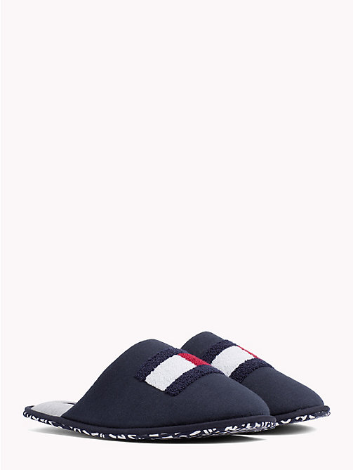 TOMMY HILFIGER Towelling Flag Slippers - MIDNIGHT - TOMMY HILFIGER Shoes - main image