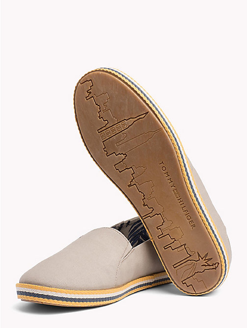 TOMMY HILFIGER Slip On Summer Espadrilles - COBBLESTONE - TOMMY HILFIGER Summer shoes - detail image 1