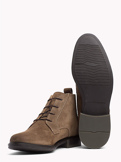 TOMMY HILFIGER Classic Suede Boots - SHITAKE - TOMMY HILFIGER Boots - detail image 1