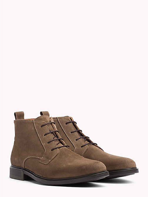 TOMMY HILFIGER Classic Suede Boots - SHITAKE - TOMMY HILFIGER Boots - main image
