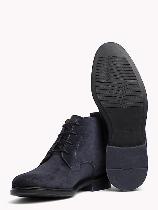 TOMMY HILFIGER Classic Suede Boots - MIDNIGHT - TOMMY HILFIGER NEW IN - detail image 1