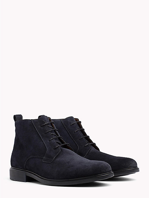 TOMMY HILFIGER Klassischer Wildleder-Boot - MIDNIGHT - TOMMY HILFIGER NEW IN - main image
