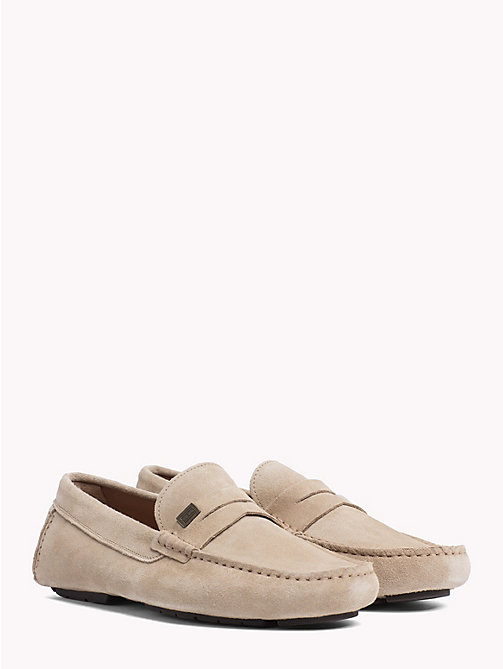TOMMY HILFIGER Seasonal Suede Loafers - SAND - TOMMY HILFIGER Loafers & Boat Shoes - main image