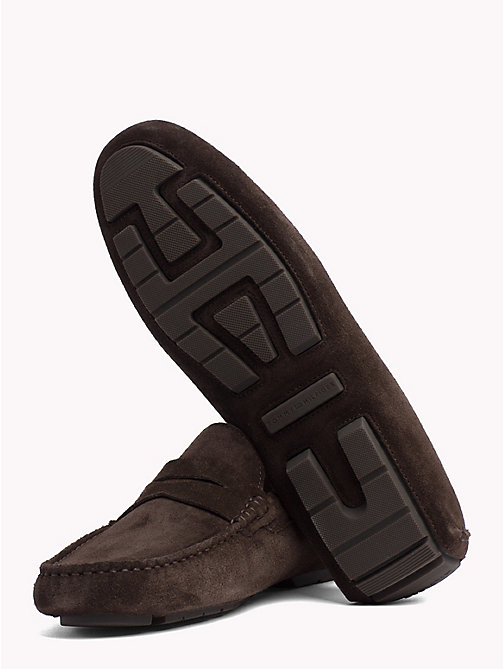TOMMY HILFIGER Seasonal Suede Loafers - COFFEE BEAN - TOMMY HILFIGER Loafers & Boat Shoes - detail image 1