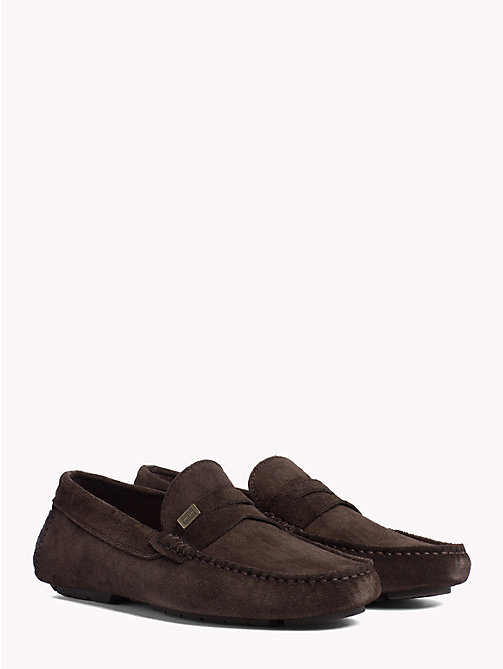 TOMMY HILFIGER Seasonal Suede Loafers - COFFEE BEAN - TOMMY HILFIGER Loafers & Boat Shoes - main image
