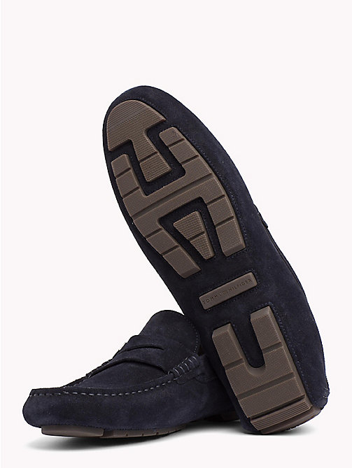 TOMMY HILFIGER Seasonal Suede Loafers - MIDNIGHT - TOMMY HILFIGER Loafers & Boat Shoes - detail image 1