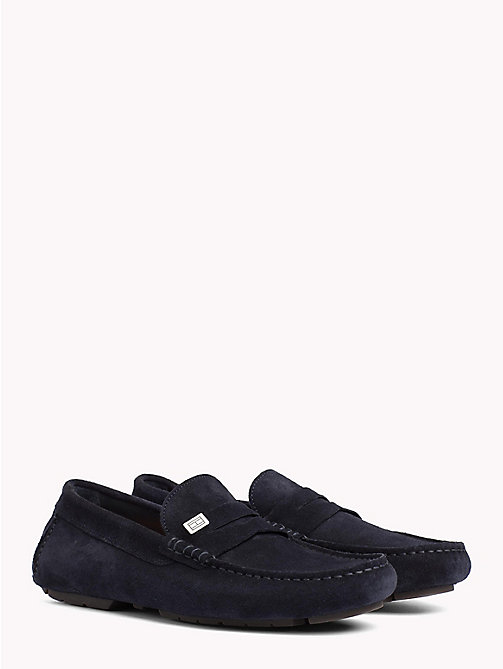 TOMMY HILFIGER Seasonal Suede Loafers - MIDNIGHT - TOMMY HILFIGER Loafers & Boat Shoes - main image