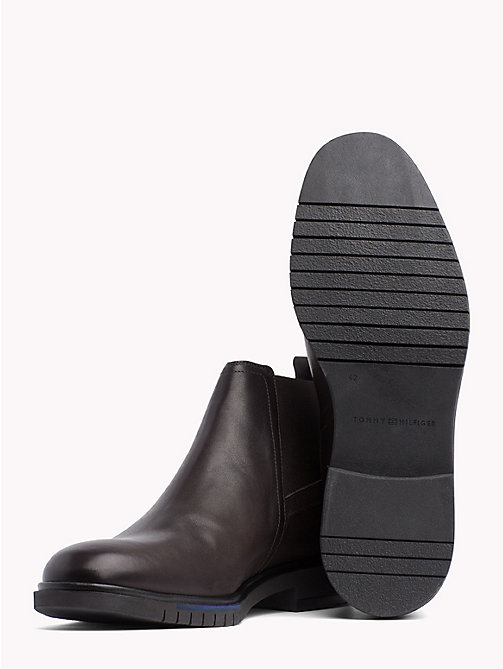 TOMMY HILFIGER Flexible Sole Leather Chelsea Boots - COFFEE BEAN - TOMMY HILFIGER Shoes - detail image 1