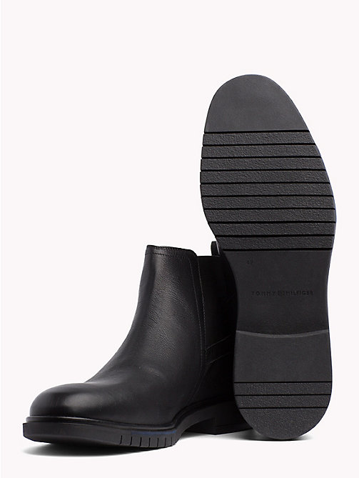TOMMY HILFIGER Flexible Sole Leather Chelsea Boots - BLACK - TOMMY HILFIGER Chelsea Boots - detail image 1