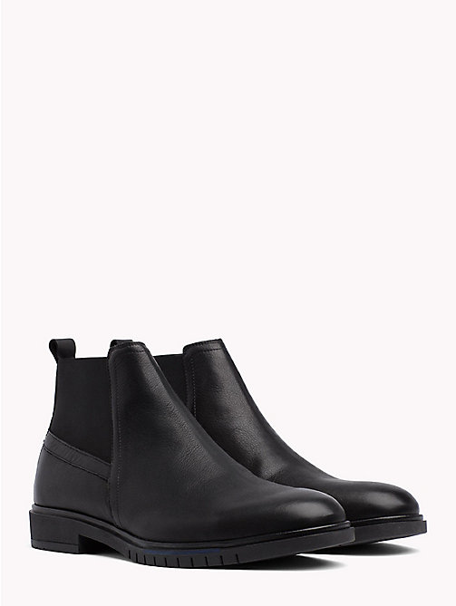 TOMMY HILFIGER Flexible Sole Leather Chelsea Boots - BLACK - TOMMY HILFIGER Chelsea Boots - main image