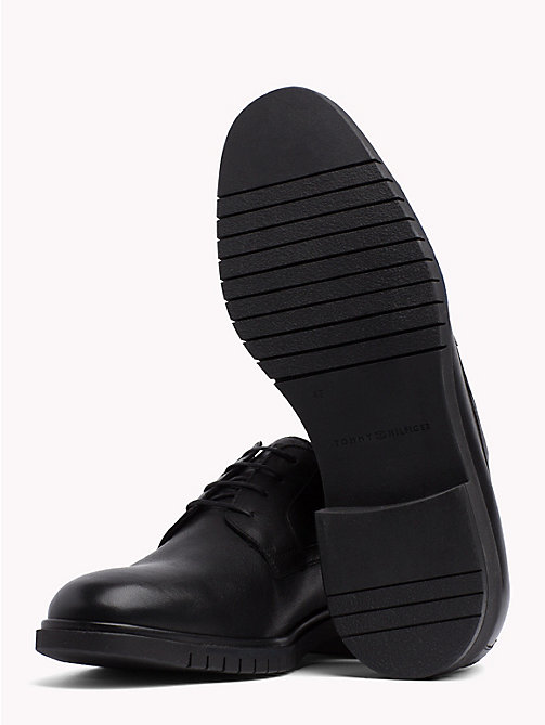 TOMMY HILFIGER Flexible Sole Leather Oxford Shoes - BLACK - TOMMY HILFIGER Lace-up Shoes - detail image 1