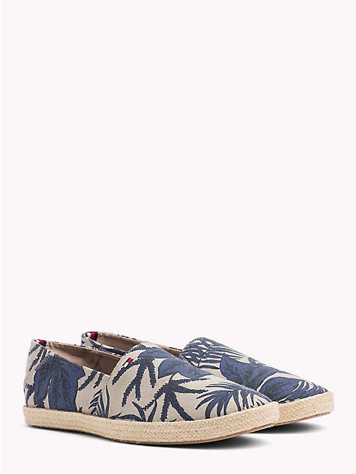 TOMMY HILFIGER Summer Print Slip-Ons - TROPICAL LEAF PRINT -  NEW IN - main image