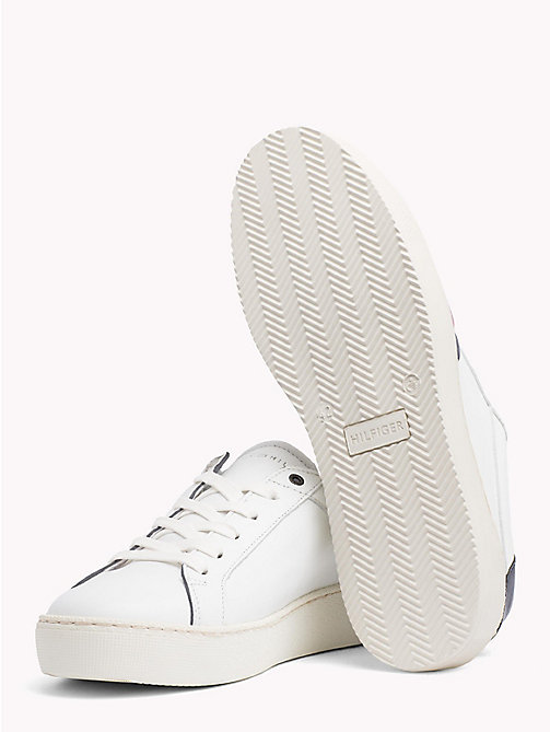 TOMMY HILFIGER Leather Flag Trainers - WHITE - TOMMY HILFIGER Best Sellers - detail image 1