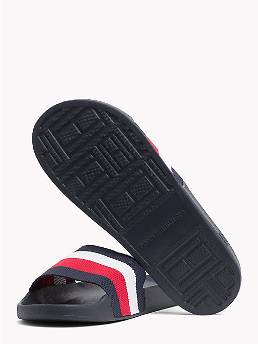 TOMMY HILFIGER Stripe Pool Sliders - MIDNIGHT - TOMMY HILFIGER Summer shoes - detail image 1