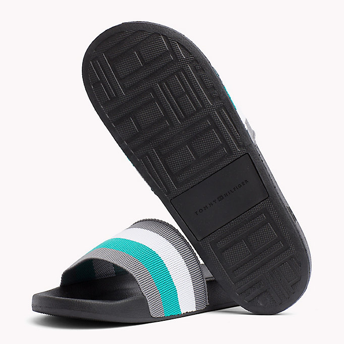 TOMMY HILFIGER Stripe Pool Sliders - MIDNIGHT - TOMMY HILFIGER Men - detail image 1