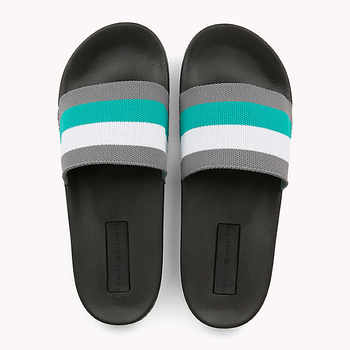 TOMMY HILFIGER Stripe Pool Sliders - MIDNIGHT - TOMMY HILFIGER Men - detail image 3