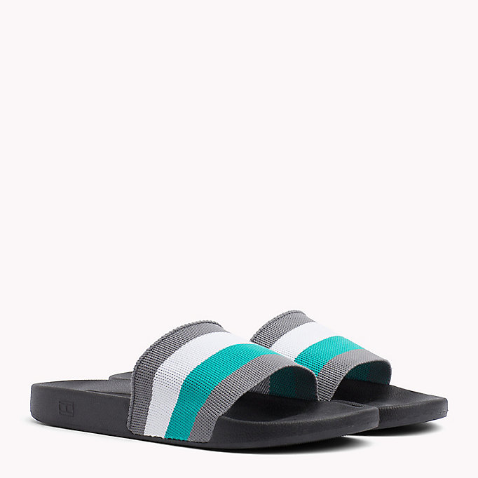TOMMY HILFIGER Stripe Pool Sliders - MIDNIGHT - TOMMY HILFIGER Men - main image