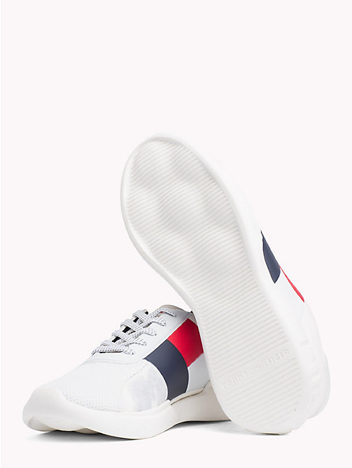 TOMMY HILFIGER Colour-Blocked Lightweight Runners - WHITE - TOMMY HILFIGER Trainers - detail image 1