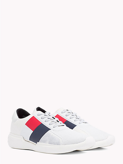 TOMMY HILFIGER Colour-Blocked Lightweight Runners - WHITE - TOMMY HILFIGER Trainers - main image