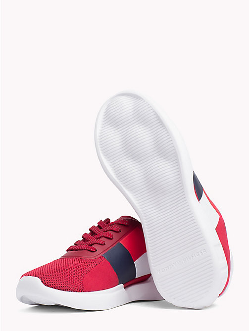 TOMMY HILFIGER Colour-Blocked Lightweight Runners - TANGO RED - TOMMY HILFIGER NEW IN - detail image 1