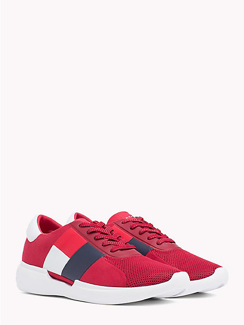 TOMMY HILFIGER Colour-Blocked Lightweight Runners - TANGO RED - TOMMY HILFIGER NEW IN - main image
