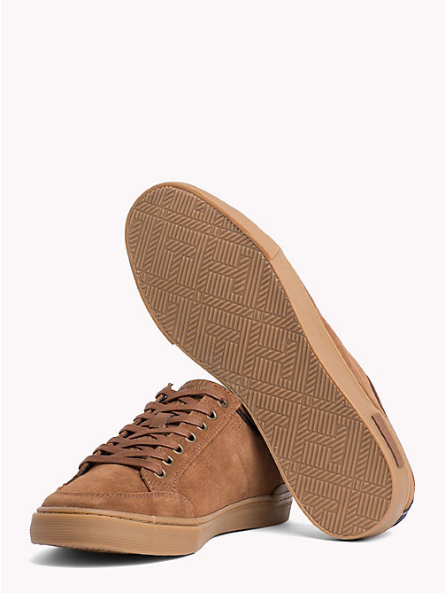 TOMMY HILFIGER Core Suede Trainers - COGNAC - TOMMY HILFIGER Trainers - detail image 1