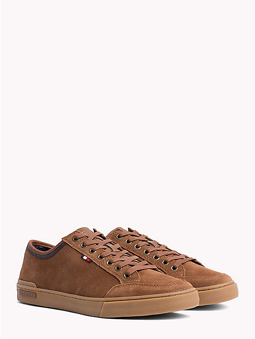 TOMMY HILFIGER Core Suede Trainers - COGNAC - TOMMY HILFIGER Trainers - main image