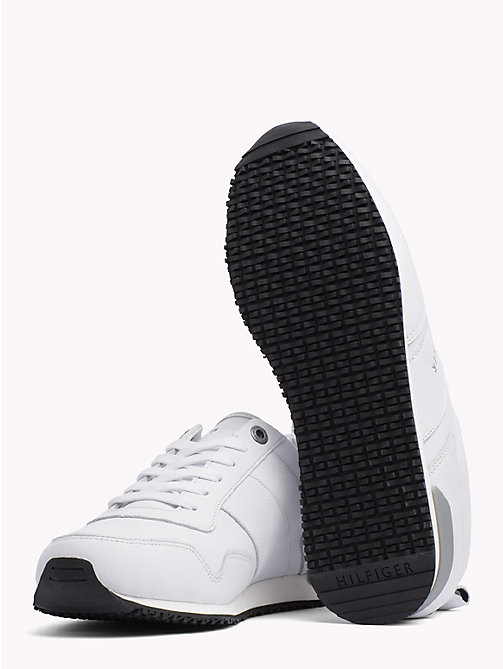 TOMMY HILFIGER Classic Leather Running Trainers - WHITE - TOMMY HILFIGER Shoes - detail image 1