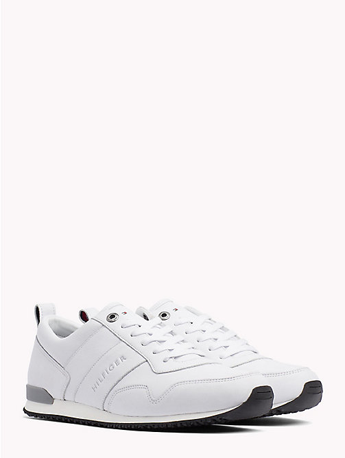 TOMMY HILFIGER Classic Leather Running Trainers - WHITE - TOMMY HILFIGER Shoes - main image