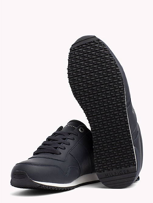 TOMMY HILFIGER Classic Leather Running Trainers - MIDNIGHT - TOMMY HILFIGER Shoes - detail image 1