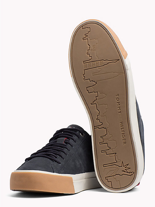 TOMMY HILFIGER Low-Rise Leather Trainers - MIDNIGHT - TOMMY HILFIGER Shoes - detail image 1