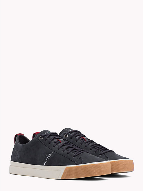 TOMMY HILFIGER Low-Rise Leather Trainers - MIDNIGHT - TOMMY HILFIGER Shoes - main image