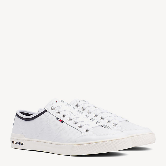 723d6d700fa8cf Perforated Leather Trainers