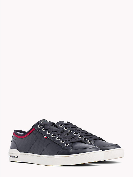 TOMMY HILFIGER Sneakers traforate in pelle - MIDNIGHT - TOMMY HILFIGER Scarpe - immagine principale