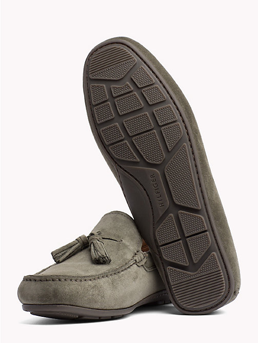 TOMMY HILFIGER Suede Tassel Loafers - OLIVE NIGHT - TOMMY HILFIGER Loafers & Boat Shoes - detail image 1