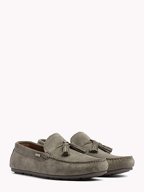 TOMMY HILFIGER Suede Tassel Loafers - OLIVE NIGHT - TOMMY HILFIGER Loafers & Boat Shoes - main image
