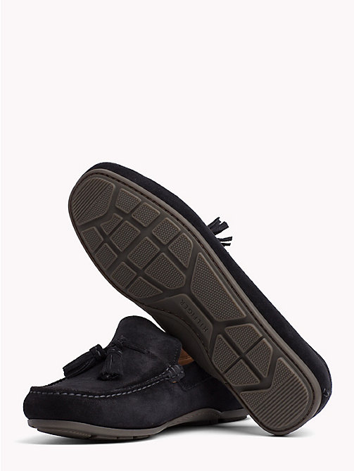 TOMMY HILFIGER Suede Tassel Loafers - MIDNIGHT - TOMMY HILFIGER Loafers & Boat Shoes - detail image 1