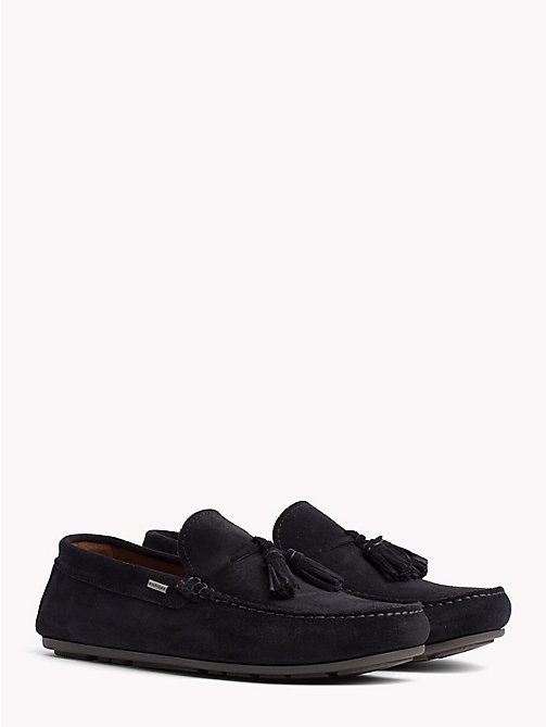 TOMMY HILFIGER Suede Tassel Loafers - MIDNIGHT - TOMMY HILFIGER Loafers & Boat Shoes - main image
