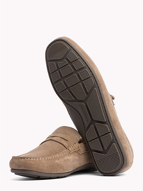 TOMMY HILFIGER Classic Suede Loafers - TAUPE GREY - TOMMY HILFIGER Loafers & Boat Shoes - detail image 1