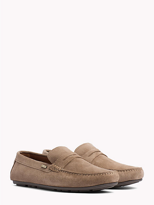 TOMMY HILFIGER Mocassini classici in suede - TAUPE GREY - TOMMY HILFIGER Mocassini - immagine principale
