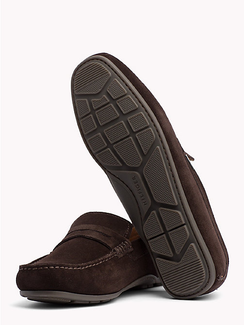 TOMMY HILFIGER Classic Suede Loafers - COFFEE BEAN - TOMMY HILFIGER Loafers & Boat Shoes - detail image 1